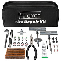 Tire Repair Tools Kit for Car, Trucks, Motorcycle, ATV, RV Universal Emergency Flat Tire Puncture Repair Patch Set with Portable Bag