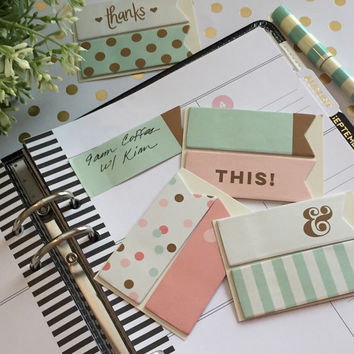 Mint Collection Sticky Notes / Page Flags / To Do / ECLP / Erin Condren