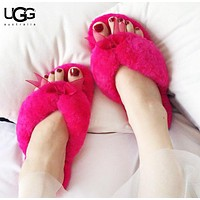 UGG New fashion bow  slippers shoes flip flop women