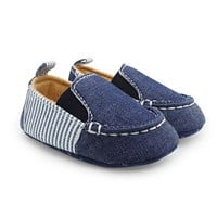 First Walkers Denim Striped Loafers