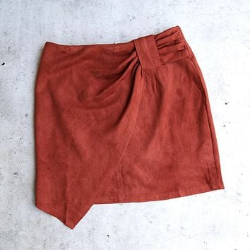 Knot That Way Vegan Suede Skirt in More Colors