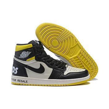 Air Jordan 1 Retro High OG NRG ¡°Not For Resale¡± No L¡¯s Black White Yellow
