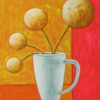 Dandelions in a Cup Oil Painting
