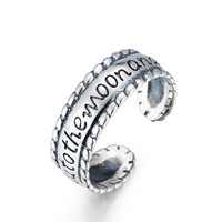 I Love You to The Moon and Back Ring - 925 Sterling Silver