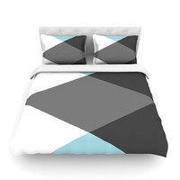 "Suzanne Carter ""Diamonds"" Twin Fleece Duvet Cover - Outlet Item"