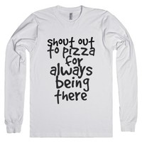 shout out to pizza-Unisex White T-Shirt
