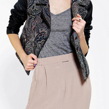 Ecote Tapestry Mix Moto Jacket - Urban Outfitters