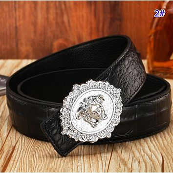 Versace Fashion New Human Head Buckle Women Men Leisure Belt 2#