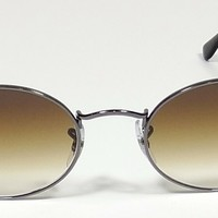 NEW RAY BAN ICONS OVAL FLAT LENS LIGHT BROWN GRADIENT SUNGLASSES RB 3547N 004/51
