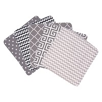 Baby Clothes - Ombre Gray 5 Pack Wash Cloth Set