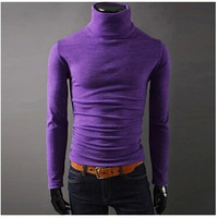 NEW Men Winter Warm Turtleneck Pullover Thermal Sweater Multi color option Solid design Soft and Warm