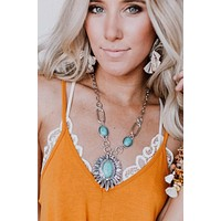 Dialing It In Necklace - Turquoise
