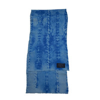 Turquoise Wool Stitched Hide Long Scarf