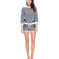 Regent Scroll French Terry Romper by Juicy Couture