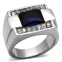 Mens Stainless Steel Rings TK1058 Stainless Steel Ring with Synthetic