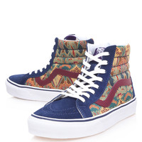 Vans Blue Sk8-Hi Ianthe Print High Top Trainers | Trainers by Vans | Liberty.co.uk