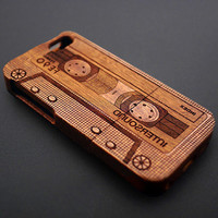 Tape Pattern Wood iPhone 5c 5s 5 4s 4 Case - Real Wood iPhone 5 Case - Custom iPhone 5s Case Wood - Wooden iPhone 5 Case - Christmas Gift