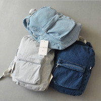 Doodoo Appliques Solid Canvas Backpacks