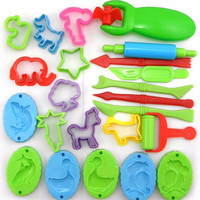Playdough 23pcs Tools Polymer Clay Plasticine Molds Play Doh Tool Set Kit For Kids Gift Magic Sand Mold