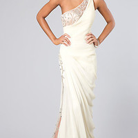 One Shoulder Prom Dress by Bari Jay
