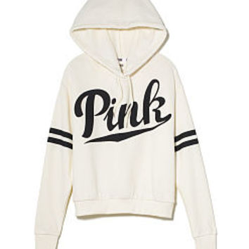 Cropped Pullover Hoodie - PINK - Victoria's Secret