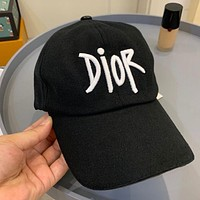 Dior New Embroidered Letter Sunshade Baseball Cap