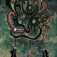 The Dream Catcher: Old Hag's Bane Art Print by Mat Miller | Society6