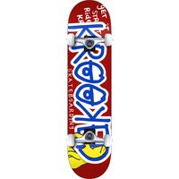Krooked Skateboards Right Hook Small Red / Blue Complete Skateboard - 7.5 x 31 at Warehouse Skateboards