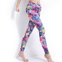 New Women Floral Yoga Pants