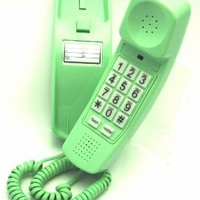 Trimline Phone - Earth Day Green - Durable Retro Novelty Telephone - An Improved Version of the Princess Phones in 1965 - A/K/A Slimline Phone - Replica Retro Styling Big Button Phones For Seniors - 30 Day Money Back Guarantee - 3 Year Warranty - Desk or W