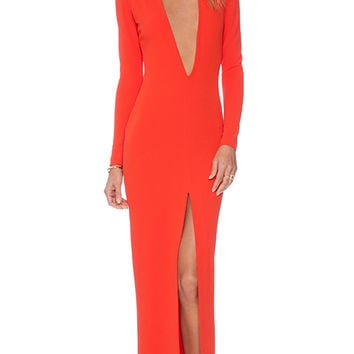 SOLACE London Gali Maxi Dress in Red