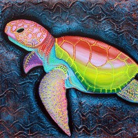 """Kemp's Ridley Sea Turtle """"Sea Of Portugal"""" Art Prints by Laura Barbosa - Shop Canvas and Framed Wall Art Prints at Imagekind.com"""