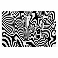 "Danny Ivan ""Trippy"" Black White Decorative Door Mat"