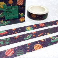 Planet washi masking tape 10M x 1.5cm solar system planets outer space rocket Masking tape universe earth mars planner sticker tape gift