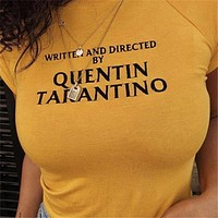 Written And Directed By Quentin Tarantino Tee