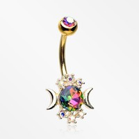 zzz-Golden Celestial Sparkle Essence Belly Button Ring