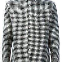 Ami Alexandre Mattiussi Houndstooth Check Shirt - Start - Farfetch.com