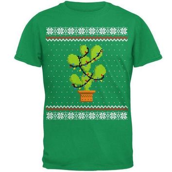 CREYON Cactus Prickly Pear Tree Ugly Christmas Sweater Mens T Shirt