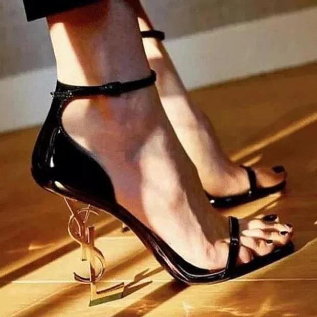 Image of Yves Saint Laurent YSL new women's fashion ultra-high heel stiletto with a high heel shoes