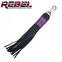 Embroidered Rebel Flag Key Chain (kc010)