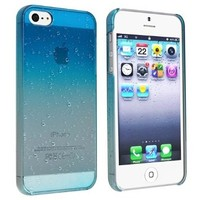 Caetle(tm) Clear Blue Waterdrop Raindrop Hard Case Compatible with Apple iPhone 5