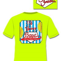 SALE Sassy Frass Collection It's All About That Base Softball Sports Bright Girlie T Shirt