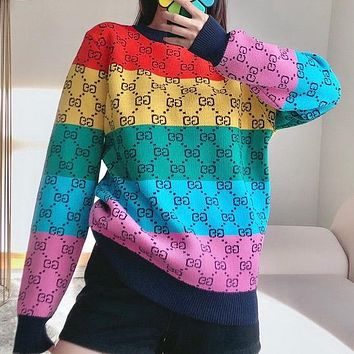 Dior GG Multicolor Knitted Double G Sweater