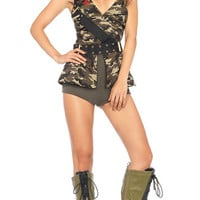 Red Beret Babe Costume