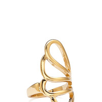 FOREVER 21 Scalloped Cutout Ring Gold