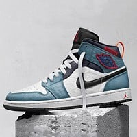 Nike Air Jordan 1 Mid Fearless Facetasm Basketball Shoes Sneakers