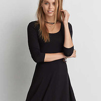 AEO Soft & Sexy Fit & Flare Dress, True Black