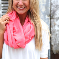 Pink + Whales Scarf