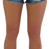 Rampage Nikki Women's High Waisted Denim Jean Shorts