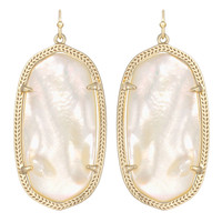 Kendra Scott Elle Drop Earrings Ivory Mother of Pearl